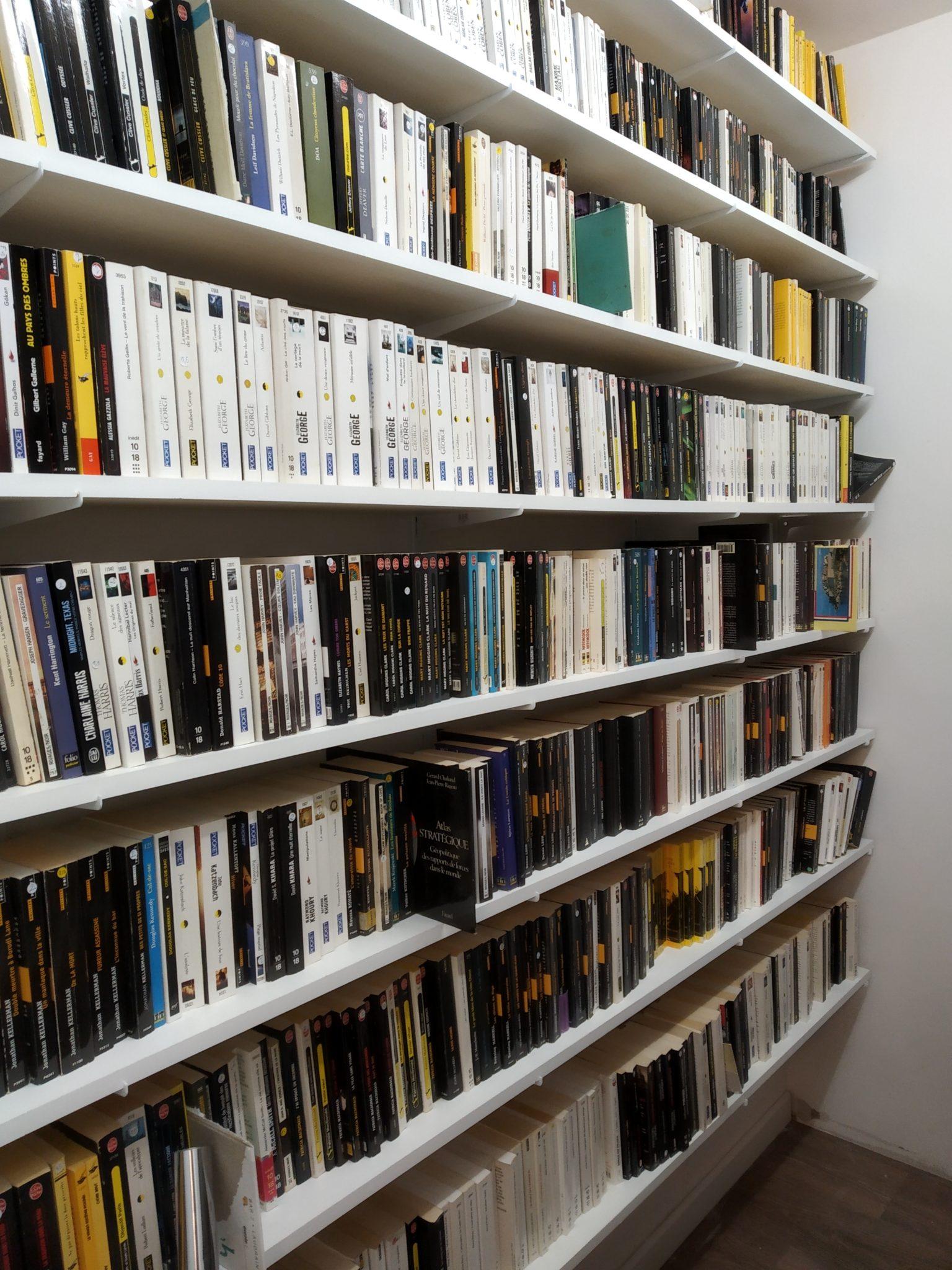 une pi ce de plus pour stocker les romans policiers les. Black Bedroom Furniture Sets. Home Design Ideas